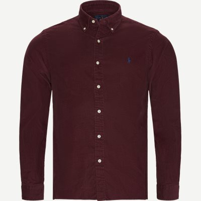 Corduroy Button-Down Shirt Slim | Corduroy Button-Down Shirt | Bordeaux