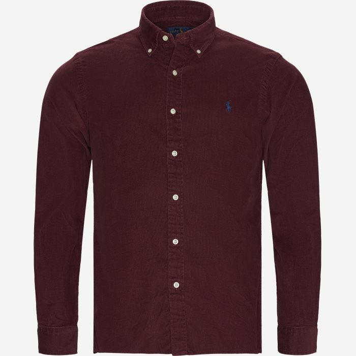 Corduroy Button-Down Shirt - Skjorter - Slim - Bordeaux