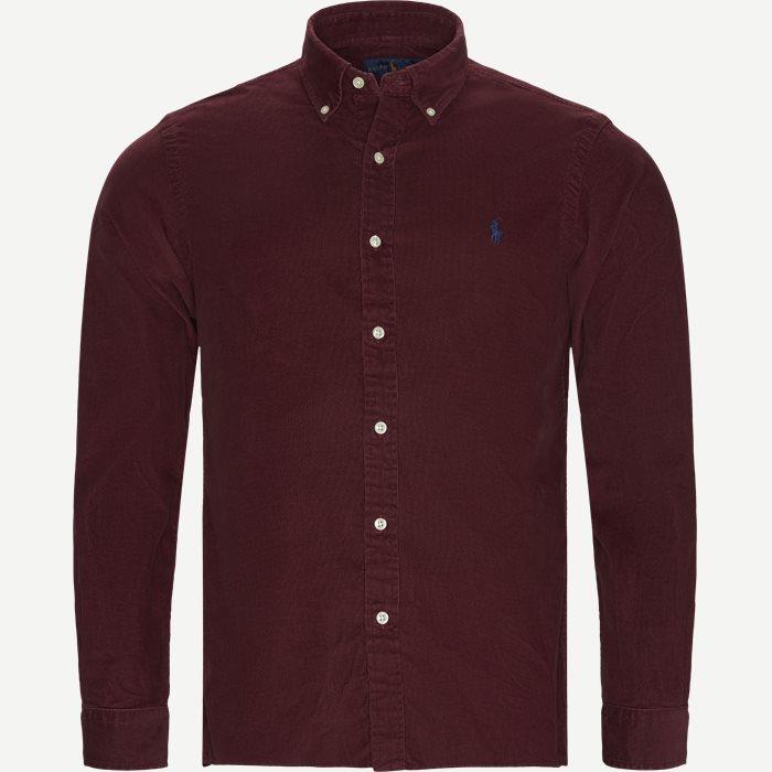 Hemden - Slim - Weinrot