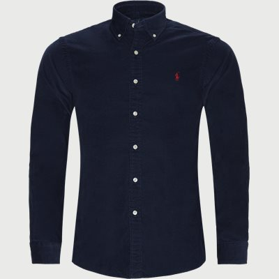 Corduroy Button-Down Shirt Slim | Corduroy Button-Down Shirt | Blå