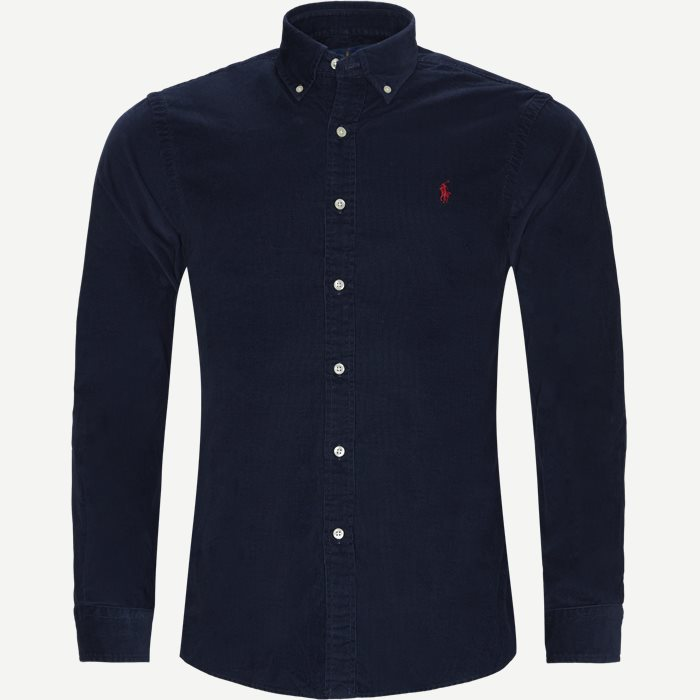 Corduroy Button-Down Shirt - Skjorter - Slim - Blå