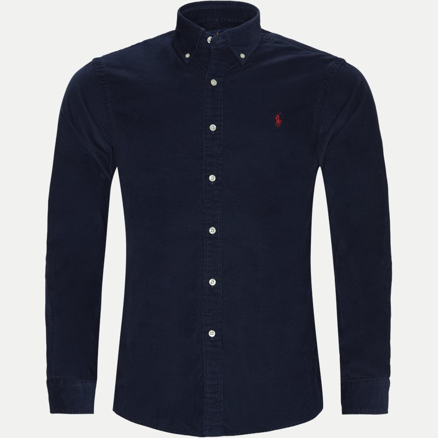 710767119 - Corduroy Button-Down Shirt - Skjorter - Slim - NAVY - 1