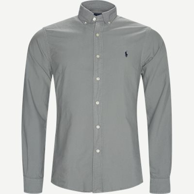 Oxford Button-Down Shirt Slim | Oxford Button-Down Shirt | Grå