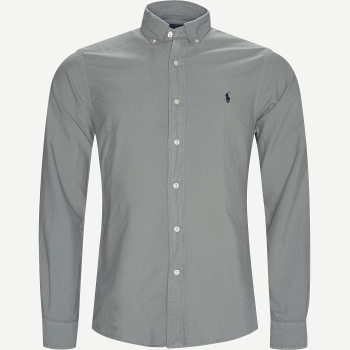 Oxford Button-Down Shirt - Skjorter - Slim - Grå