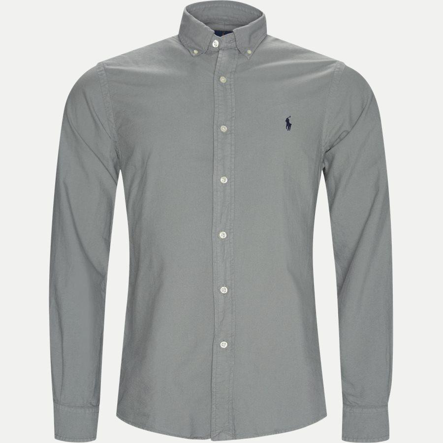710684871 - Oxford Button-Down Shirt - Skjorter - Slim - GRÅ - 1