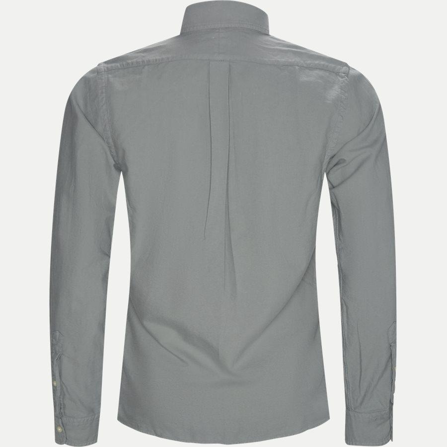 710684871 - Oxford Button-Down Shirt - Skjorter - Slim - GRÅ - 2