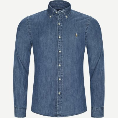 Denim Button-Down Shirt Slim | Denim Button-Down Shirt | Denim