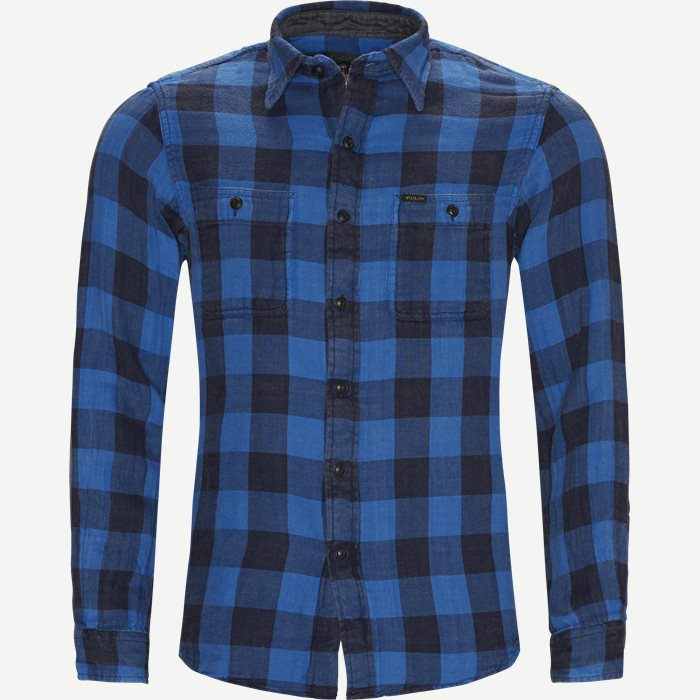 Cotton Shirt - Skjorter - Regular - Blå