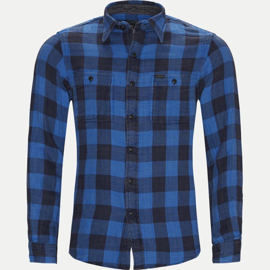710761514 - Cotton Shirt - Skjorter - Regular - BLÅ - 1