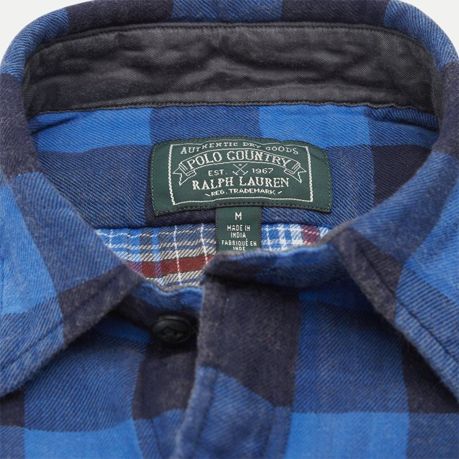 710761514 - Cotton Shirt - Skjorter - Regular - BLÅ - 4