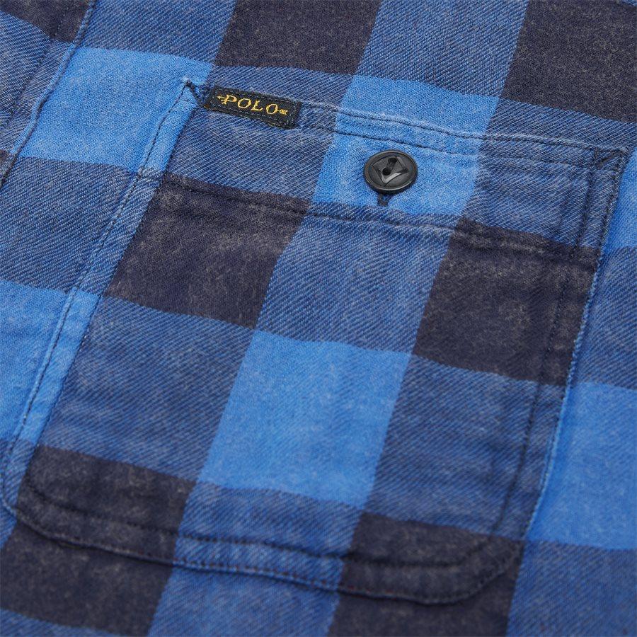 710761514 - Cotton Shirt - Skjorter - Regular - BLÅ - 7