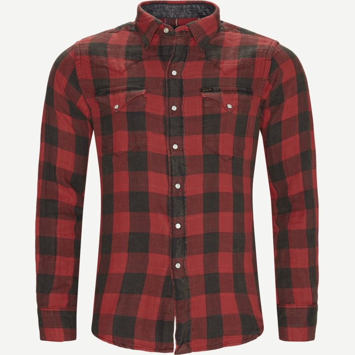 Cotton Shirt - Skjorter - Regular - Rød