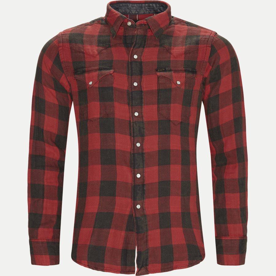 710765889 - Cotton Shirt - Skjorter - Regular - RØD - 1
