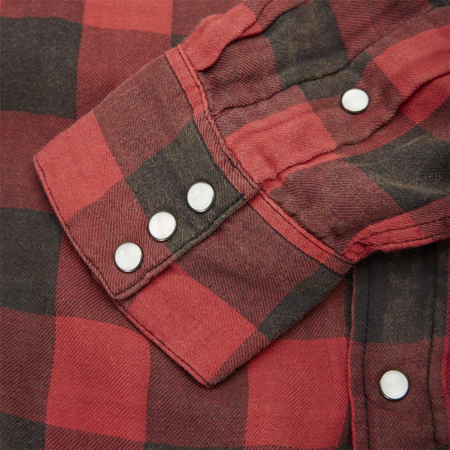 710765889 - Cotton Shirt - Skjorter - Regular - RØD - 3
