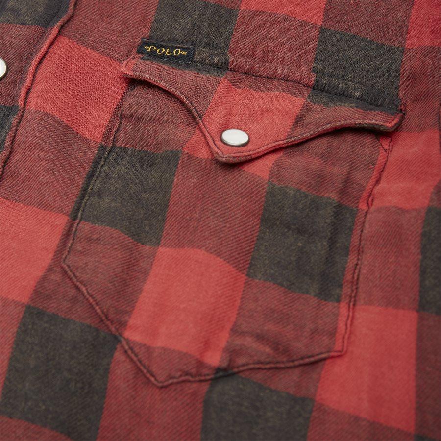 710765889 - Cotton Shirt - Skjorter - Regular - RØD - 4