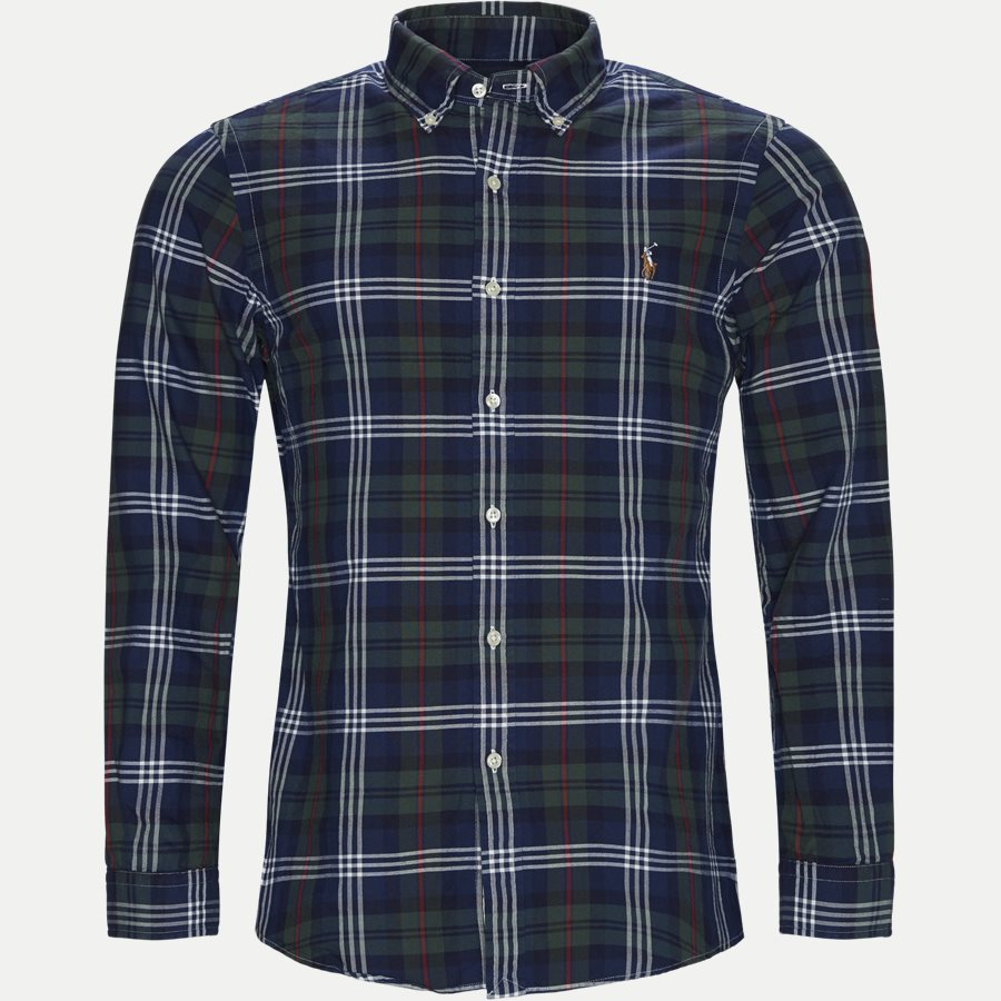 710767441 - Oxford Button-down Shirt - Skjorter - Slim - BLÅ - 1