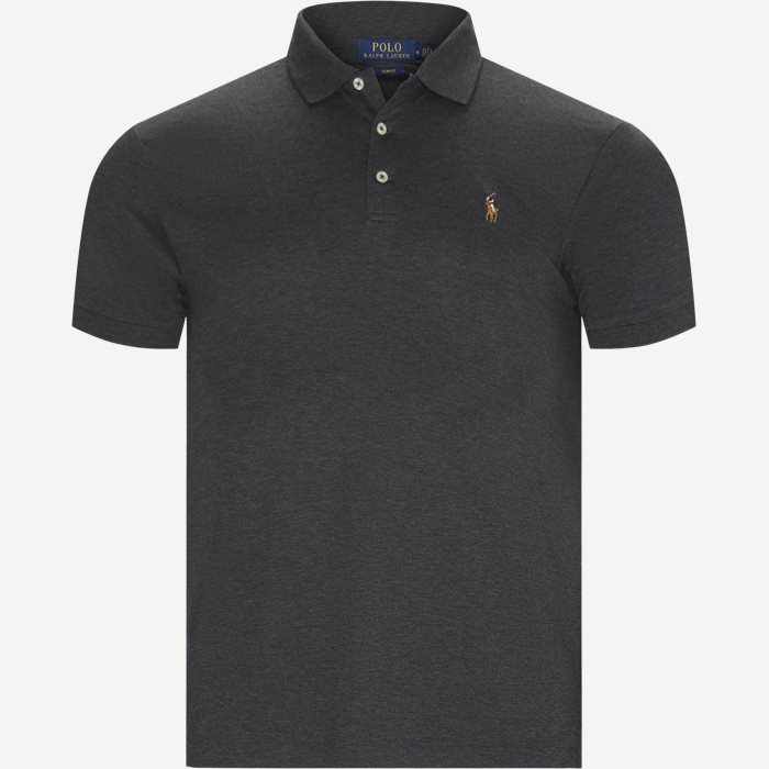 Slim Fit Interlock Polo Shirt - T-shirts - Slim - Grå