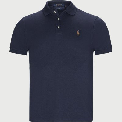 Slim Fit Interlock Polo Shirt Slim | Slim Fit Interlock Polo Shirt | Blå