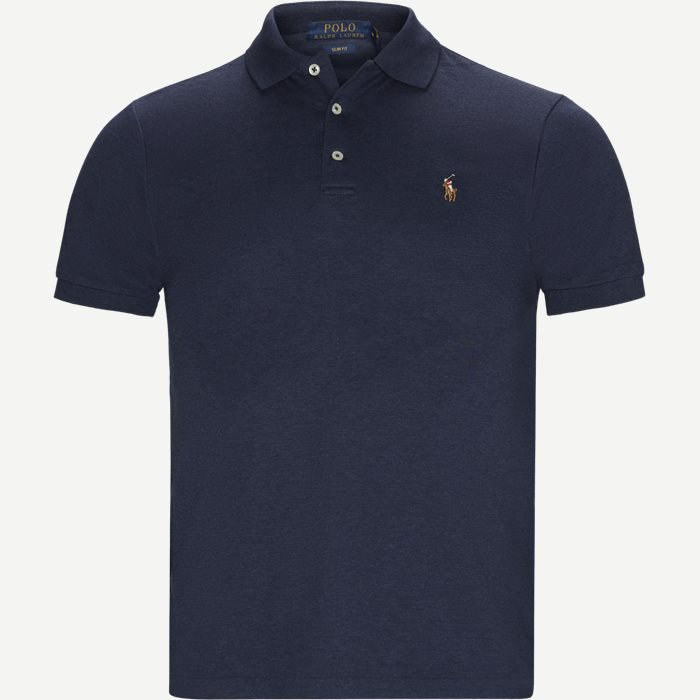Slim Fit Interlock Polo Shirt - T-shirts - Slim - Blå
