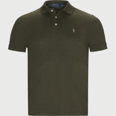 Slim Fit Interlock Polo Shirt Slim | Slim Fit Interlock Polo Shirt | Army