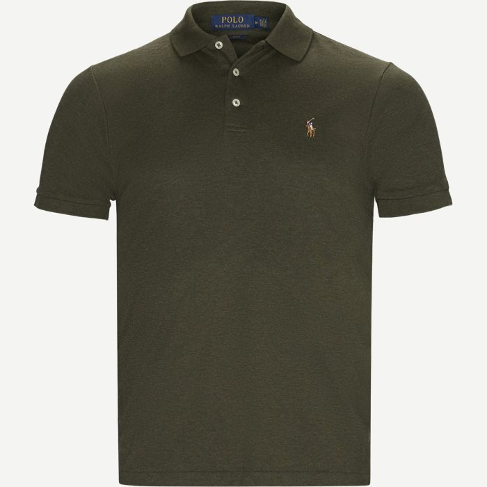Slim Fit Interlock Polo Shirt - T-shirts - Slim - Army