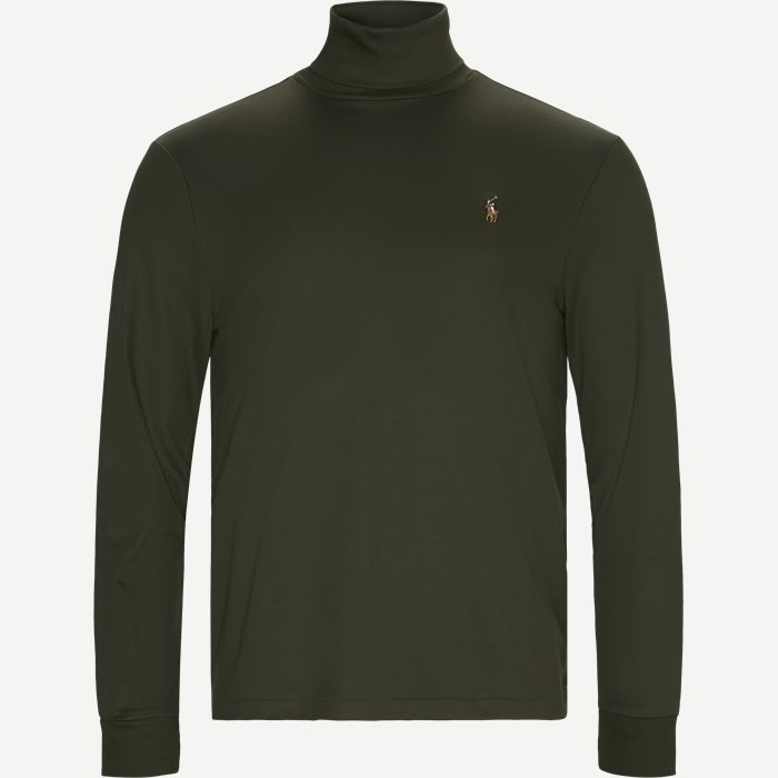 Cotton Turtleneck Jumper - T-shirts - Regular - Army