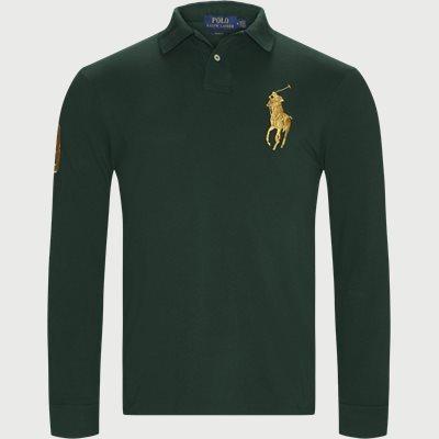 Long Sleeved Big Pony Polo Shirt Slim | Long Sleeved Big Pony Polo Shirt | Grøn