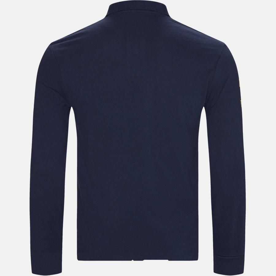 710766857 - Long Sleeved Big Pony Polo Shirt - T-shirts - Slim - NAVY - 2