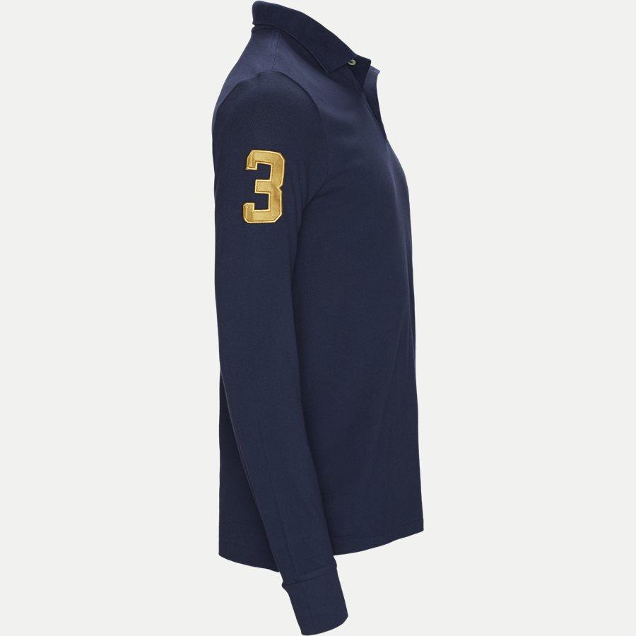 710766857 - Long Sleeved Big Pony Polo Shirt - T-shirts - Slim - NAVY - 4