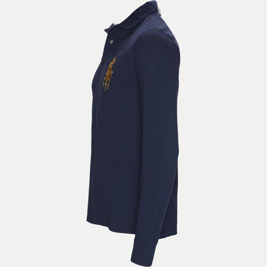 710766857 - Long Sleeved Big Pony Polo Shirt - T-shirts - Slim - NAVY - 5