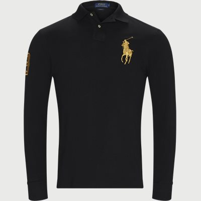 Long Sleeved Big Pony Polo Shirt Slim | Long Sleeved Big Pony Polo Shirt | Sort
