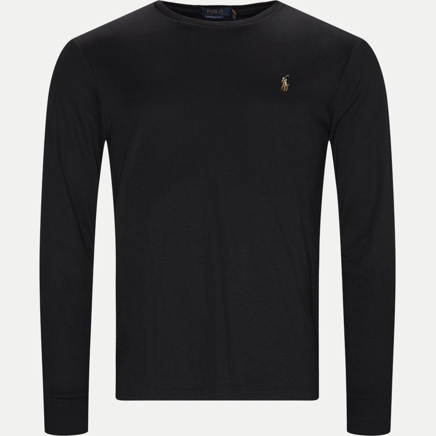 710760121 - Langærmet T-shirt - T-shirts - Custom - SORT - 1
