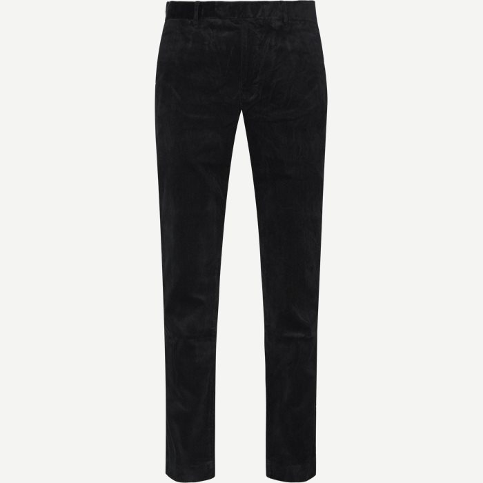 Corduroy Slim Pants - Bukser - Slim - Sort