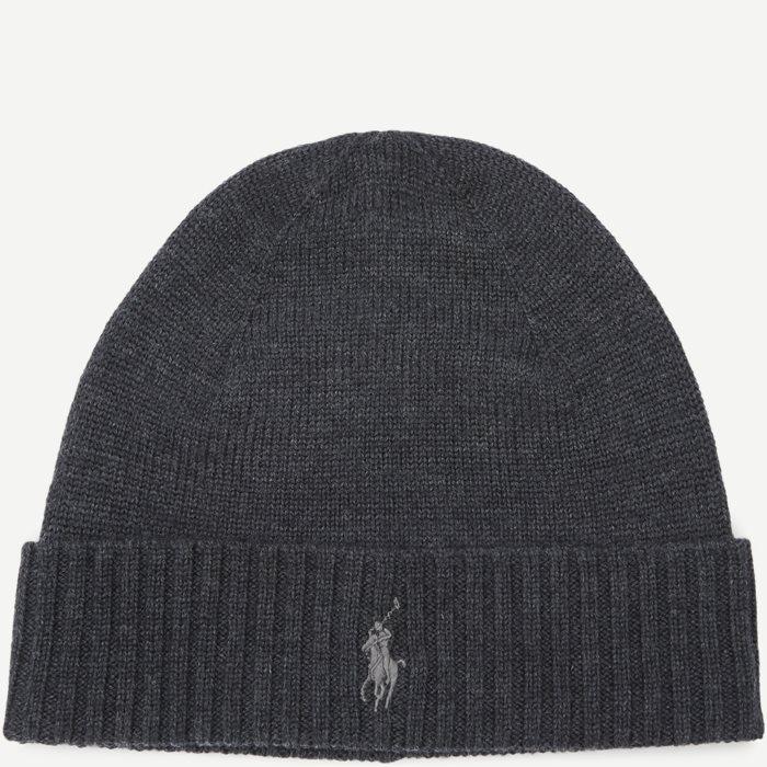 Wool Logo Beanie - Caps - Grå