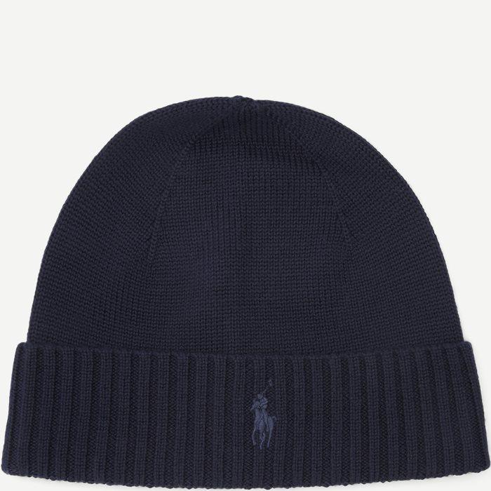 Wool Logo Beanie - Caps - Blå