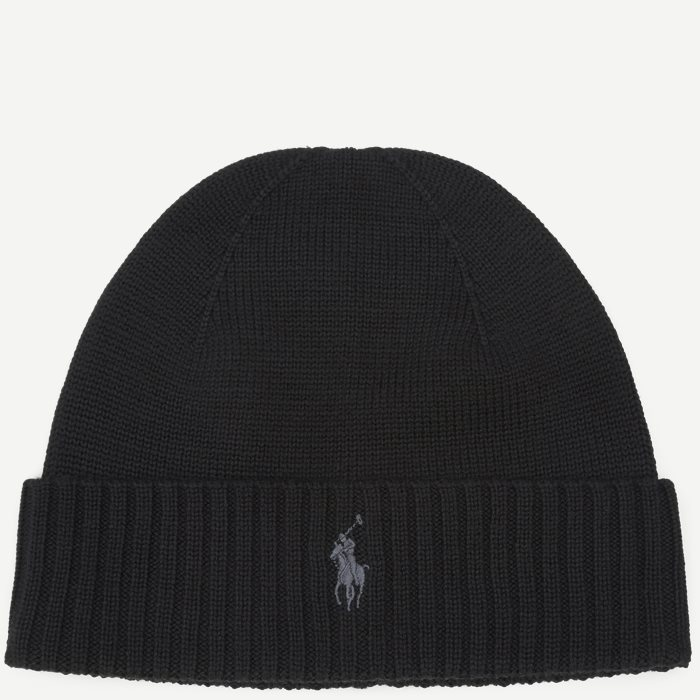 Wool Logo Beanie - Caps - Sort