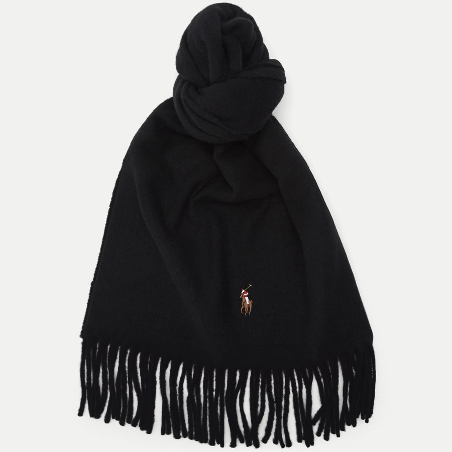 449727530 - Wool Scarf - Tørklæder - SORT - 1