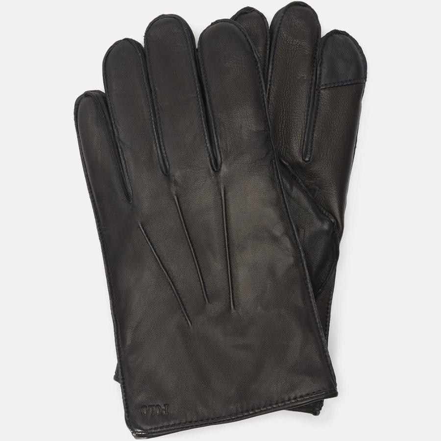449777670 - Leather Touch Gloves - Handsker - SORT - 1