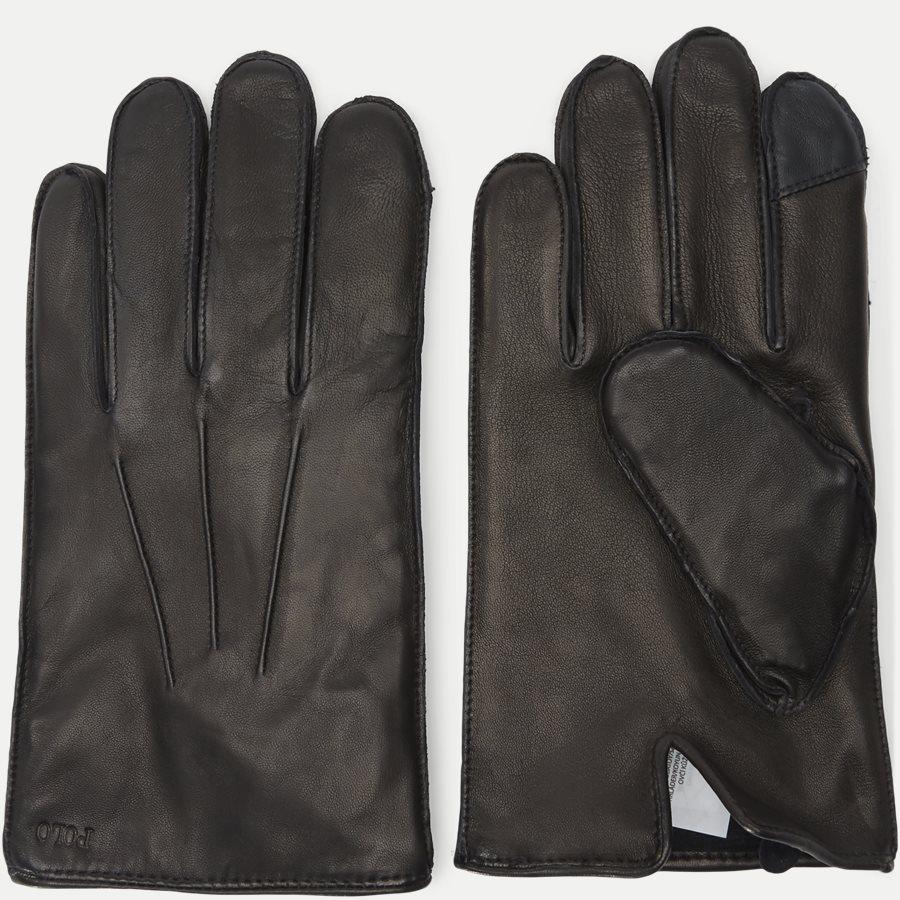 449777670 - Leather Touch Gloves - Handsker - SORT - 2