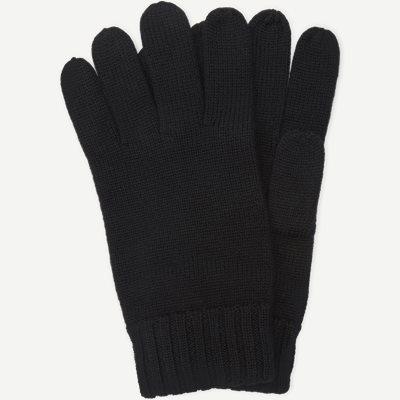 Wool Logo Gloves Wool Logo Gloves | Sort