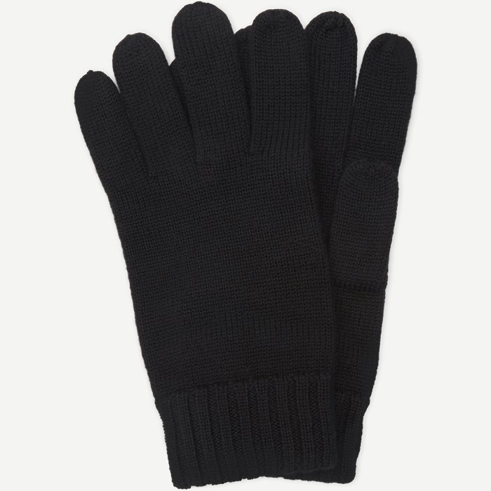 Wool Logo Gloves - Handsker - Sort