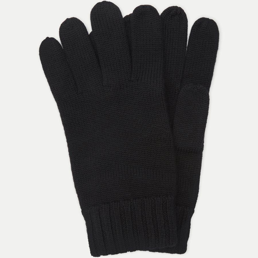 710761416 - Wool Logo Gloves - Handsker - SORT - 1