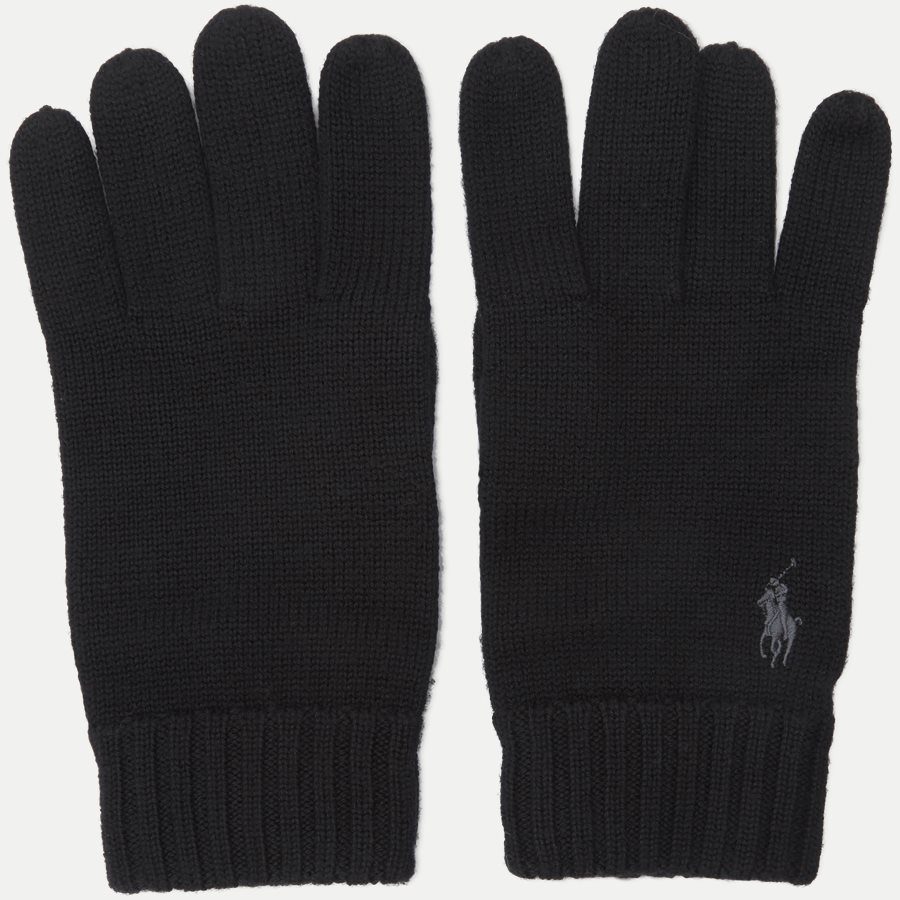 710761416 - Wool Logo Gloves - Handsker - SORT - 2