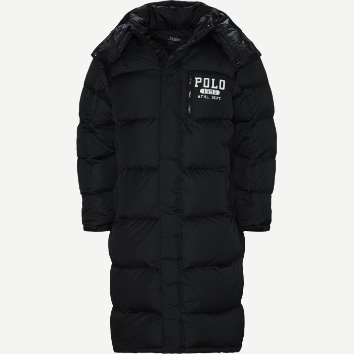 Long Down Jacket - Jakker - Regular - Sort