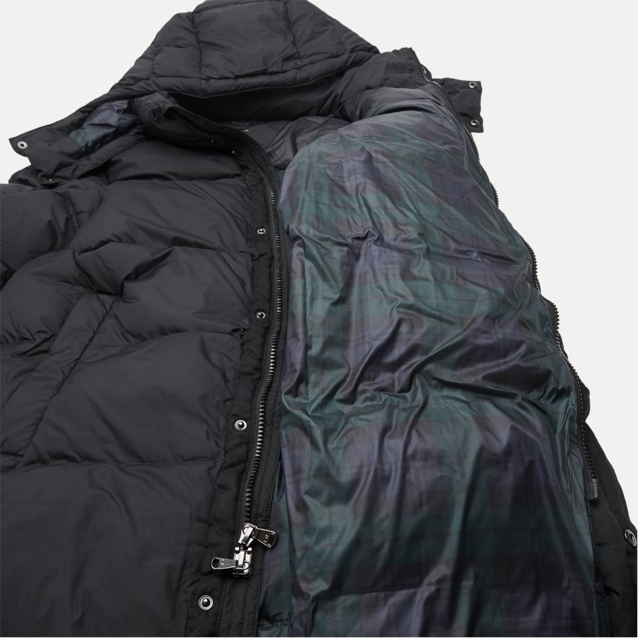 710756881 - Long Down Jacket - Jakker - Regular - SORT - 5