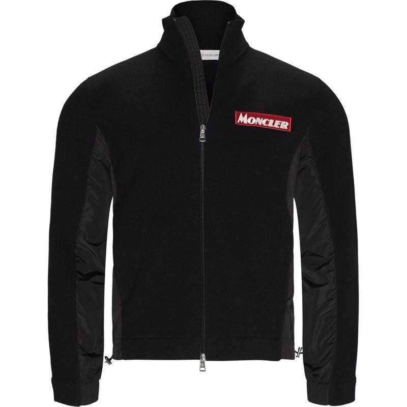 moncler Moncler regular 94221 a9041 sweatshirts sort på axel.dk