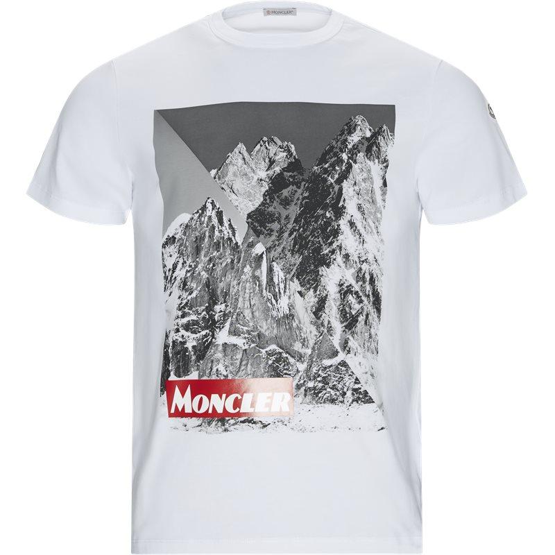 Billede af Moncler Regular fit 80483 8390T T-shirts Hvid