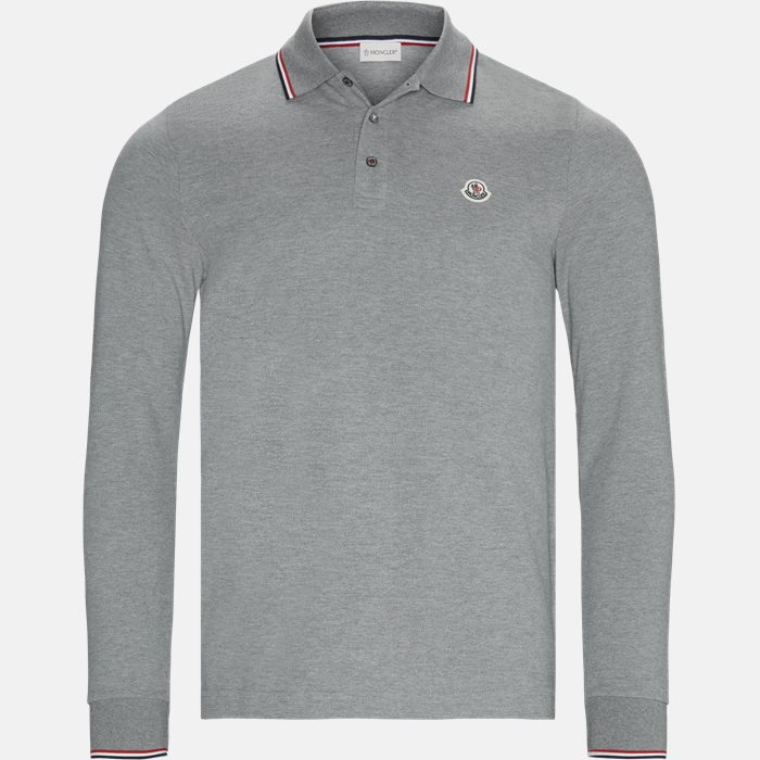 Polo t-shirt - Langærmede T-shirts - Regular fit - Grå