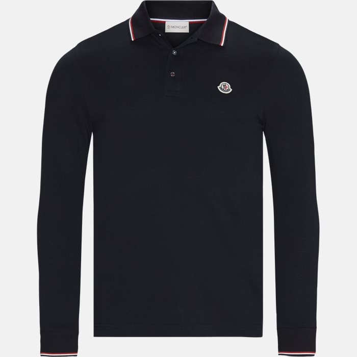 Polo t-shirt - Langærmede T-shirts - Regular fit - Blå