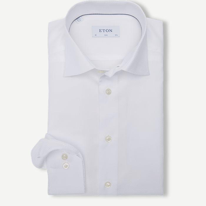 3463 Twill Skjorte - Skjorter - Hvid